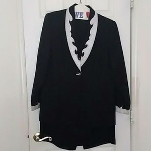 Black tie Evening attire skirt suit